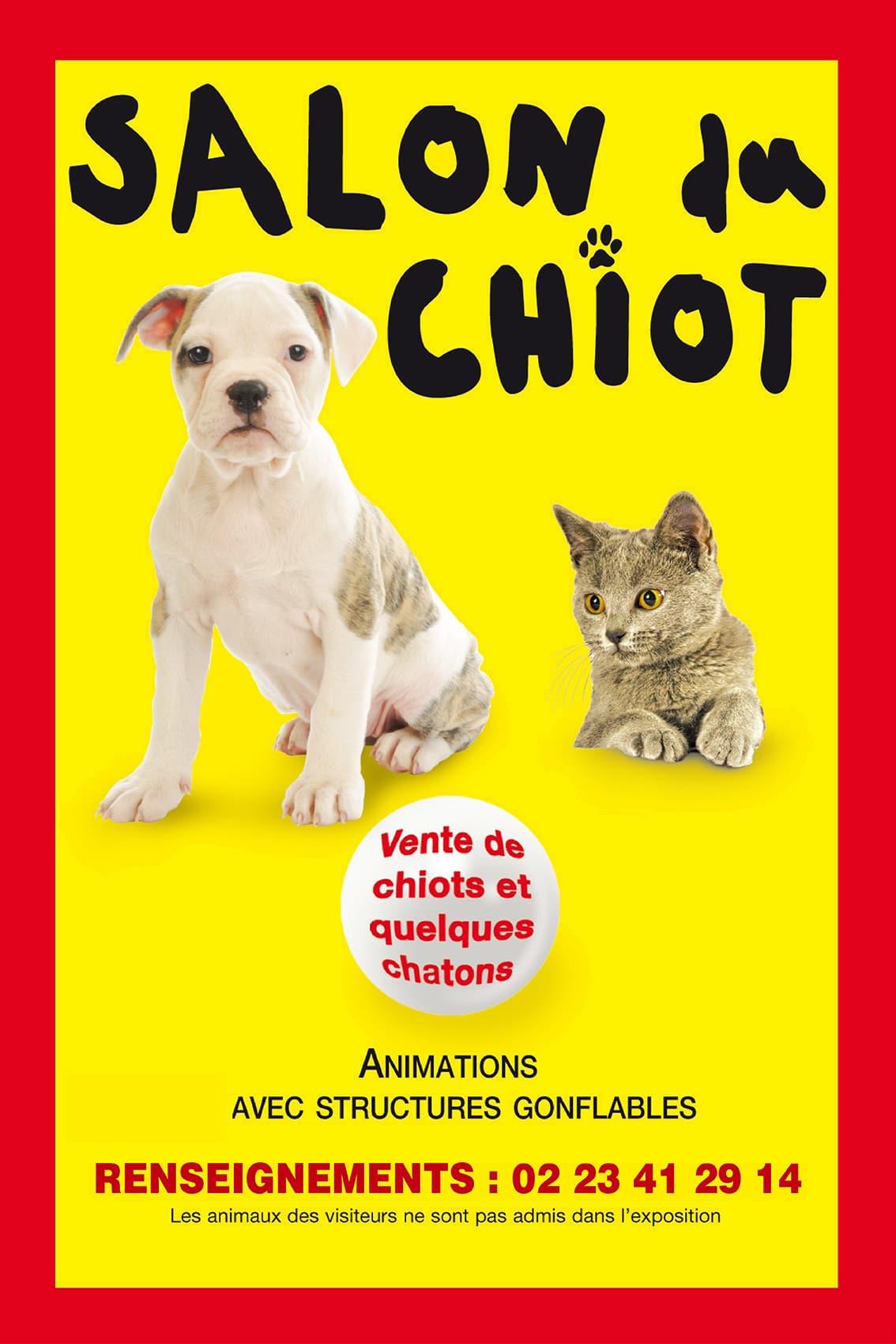 Salon du Chiot Parc des Expositions Lanester Chiens Animaux domestiques Lorient