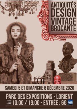 Salon brocante Lorient Parc expo 5-6 dec 2020